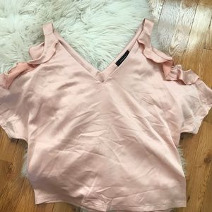 NWT Silky Peach Off The Shoulder Top